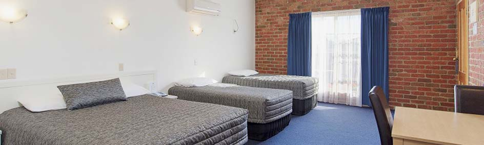 Yarra Valley Motel offers Deluxe Spa Suites, Family rooms, Executive Queen rooms and Twin rooms.