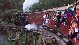 Take a ride on the Puffing Billy Australia's Favourite Steam Train